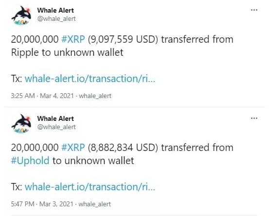 Ripple перевела XRP