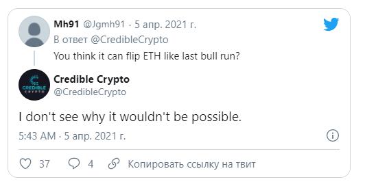 Твит Trustable Crypto