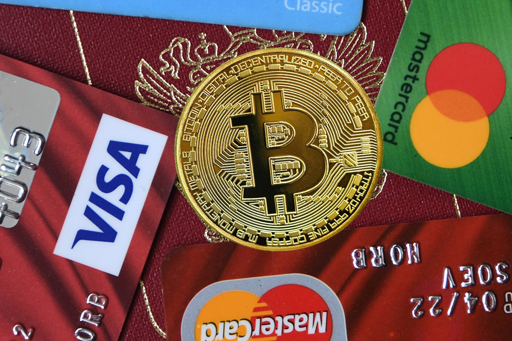 Первая BTC-карта Visa